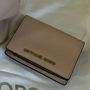 Michael Kors blush and silver wallet